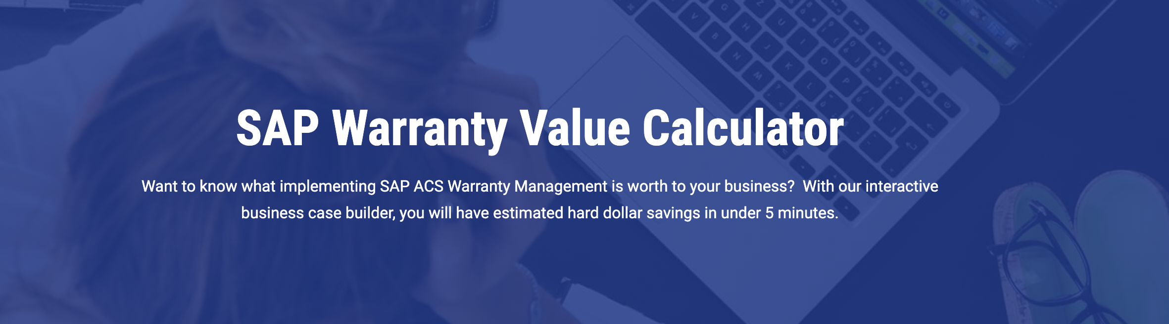New Warranty Project Savings Calculator Image