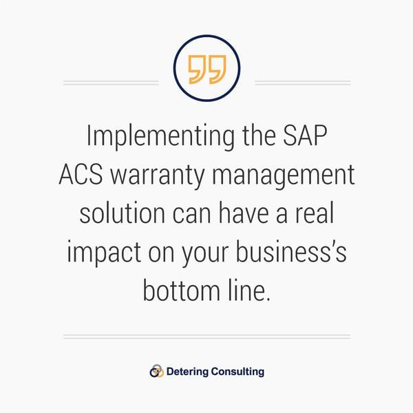 SAP ACS Warranty Management Solution quote2
