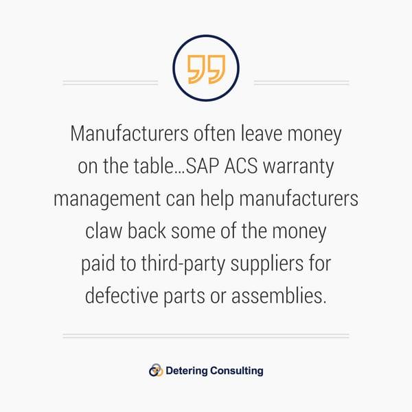 SAP ACS Warranty Management Solution quote3