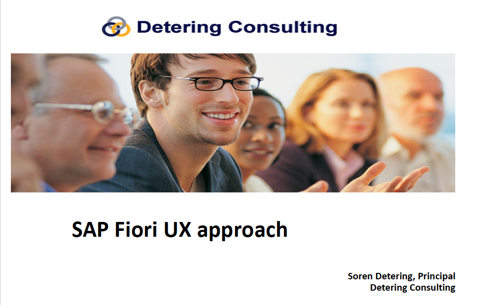 SAP Fiori UX Approach by Detering Consulting