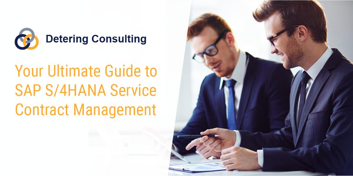 SAP S4HANA service contract management