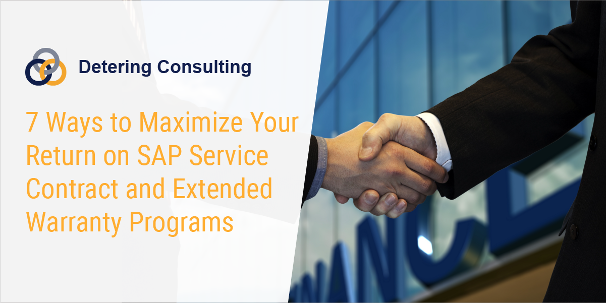 Maximize ROI from SAP service contracts and extended warranty programs