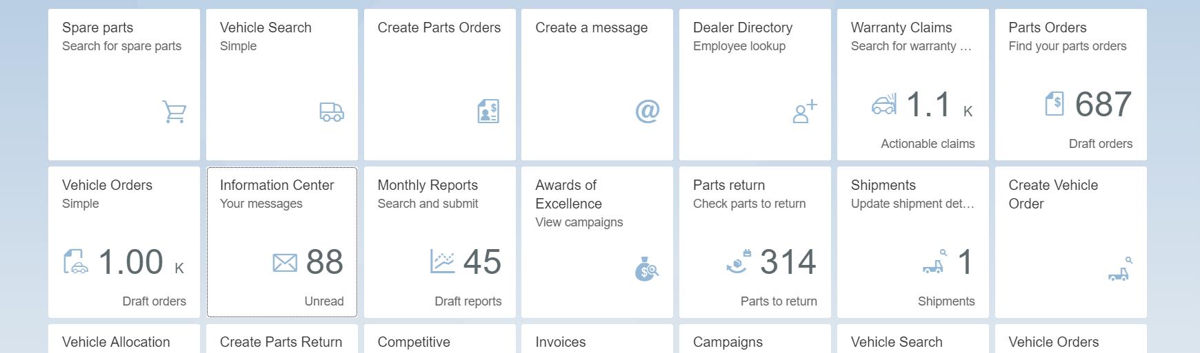 Dealer Portal - Information Center